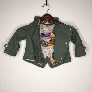 Genuine Kids Double Breasted Coat w/Hood Size 2T